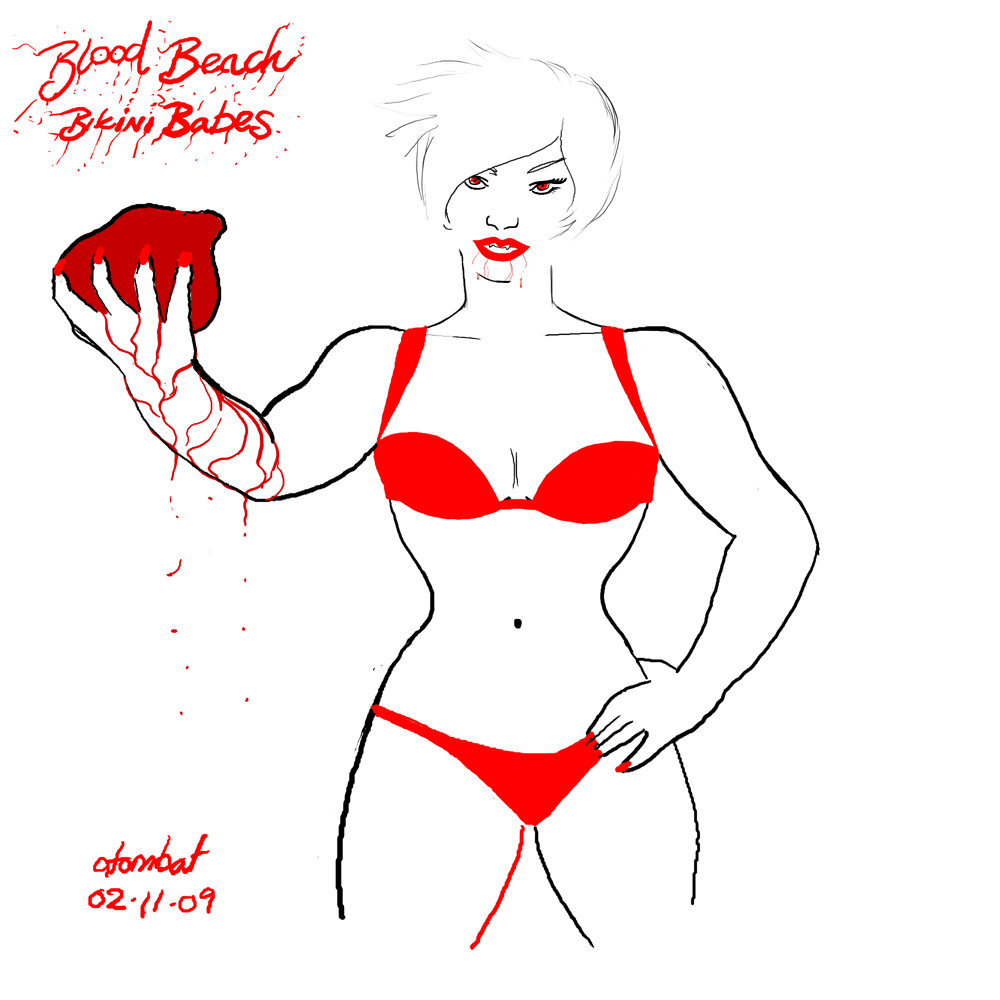 The White Widow Blood Beach Bikini Babe. This Vampiress will play beach ...